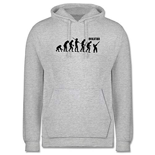 Shirtracer Evolution - Cricket Evolution - 4XL - Grau meliert - Geschenk - JH001 - Herren Hoodie und Kapuzenpullover für Männer