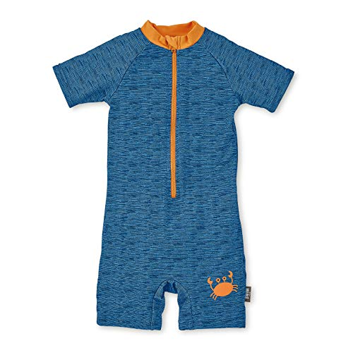 Sterntaler Jungen Schwimmanzug, Kurzarm-Badeshirt und Bade-Shorts, Größe: 98/104, Blau, 2 - 4 Jahre