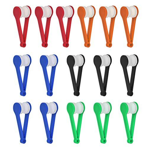 16 Stück Magische Brille Brillen Bürste Brille Sonnenbrille von Mikrofaser Brille Reinigung Werkzeug