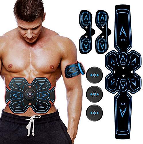ZHENROG EMS Elektrostimulation Muskel Trainer,Bauchmuskeltrainer,Muskelstimulator,USB Wiederaufladbar Elektrostimulatoren Massagegerät,Stärkung der zentralen seitlichen Bauchmuskulatur