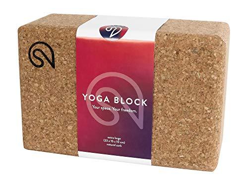 SHANTI NATION - Shanti Block XL - großer Yogablock - aus Naturkork - 23 x 15 x 10 cm - auch für Pilates & Fitness - Made in Europe