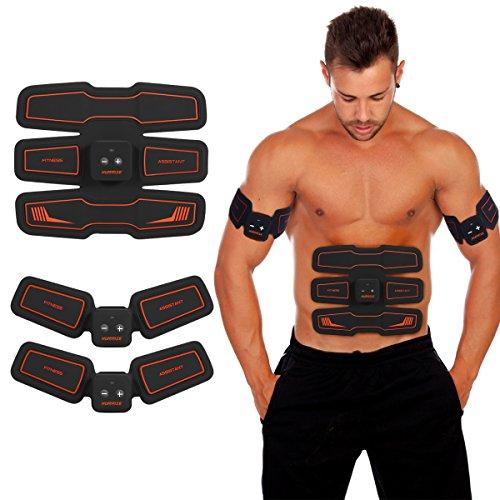 Elektrischer Muskelstimulation für Männer und Frauen, Muskeln Stimulator Smart Home System Kabellos EMS Muskel-Trainer Ganzer Muskelaufbau zum Zuhause Büro Körper Fitness Trainieren Ausrüstung
