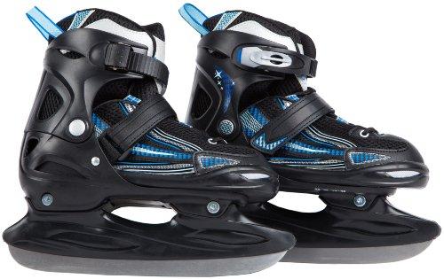 Ultrasport Kinder Schlitt-/Eislaufschuhe für Jungen & Mädchen, mit Schnellschnürsystem & Push-Lock-Schnalle für sicheren Halt, kältebeständig bis - 20° C, schwarz, Gr. 28 - 31