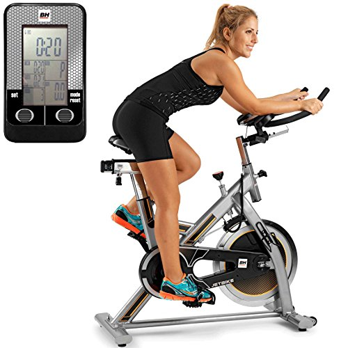 BH Fitness Uni Mkt Jet H9158RF Indoor Bike, Indoor Cycle, Silber Grau/Gelb, One Size