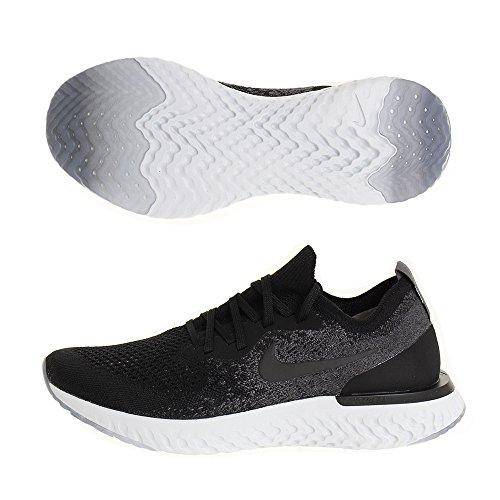 Nike Herren Epic React Flyknit Laufschuhe, Schwarz/Weiß, 44 EU