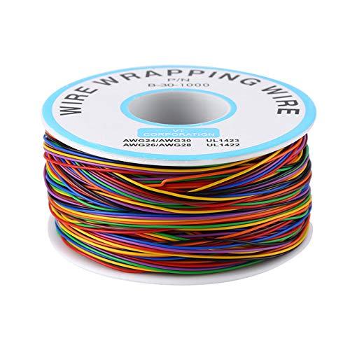Farbige Isolierung, die Kupfertest-Kabel einwickelt Male Steckbrücken Breadboard Jumperkabel Buntes P/N B-30-1000 15M 8-Wire Farbige Drähte für Steckbrett