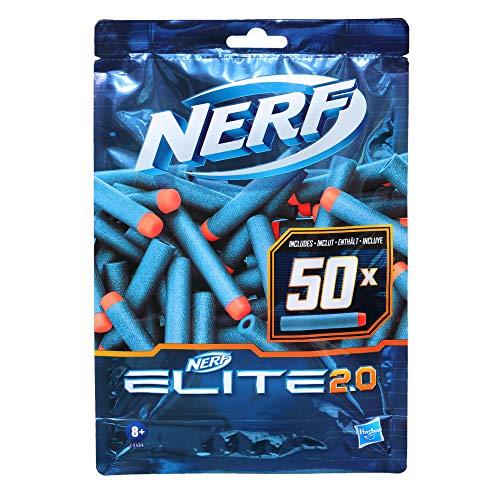 Hasbro Nerf Elite 2.0 50er Dart Nachfüllpackung – 50 Nerf Elite 2.0 Darts – kompatibel mit Allen Nerf Blastern, die Elite Darts verwenden