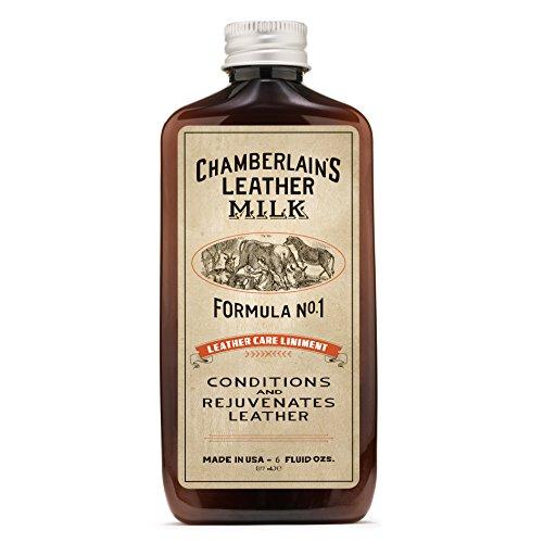 Chamberlain's Leather Milk - Leather Care Liniment Nr. 1 - Leder-Conditioner - Naturbasis/ungiftig - 1 Auftragepad 2 Größen - 0.18 L