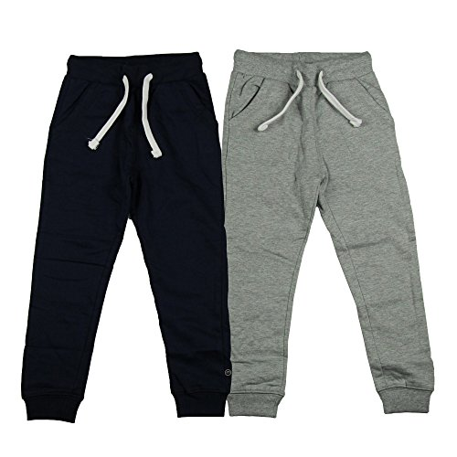 MINYMO Jungen Basic 36 -Sweat Pant (2-pack) Hose, Mehrfarbig (Dark Navy/Grau 778), 110 Cm herstellergr e Cm EU