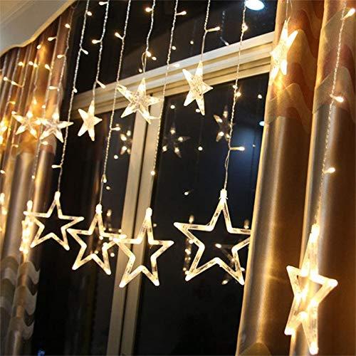 138 LED 2.5M Lichterkette Sternenvorhang, LED Sternenlichterkette Lichter, Weihnachtsdeko Weihnachtsbeleuchtung Deko Christmas Lichtervorhang Innen Außen, LED String Licht (2.5m mit 138LEDs)