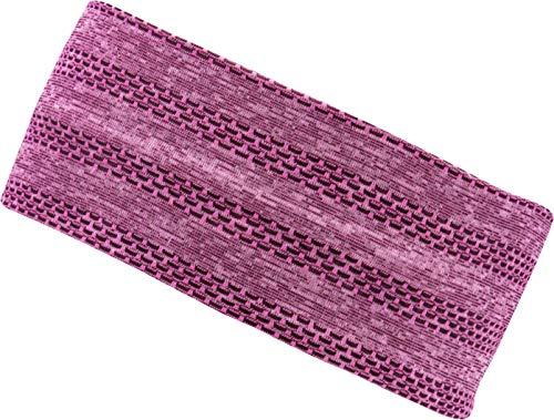 FEINZWIRN Mokapu pink Damen Kopfband Haarband in vielen Farben für Sport und Freizeit doppellagig (pink