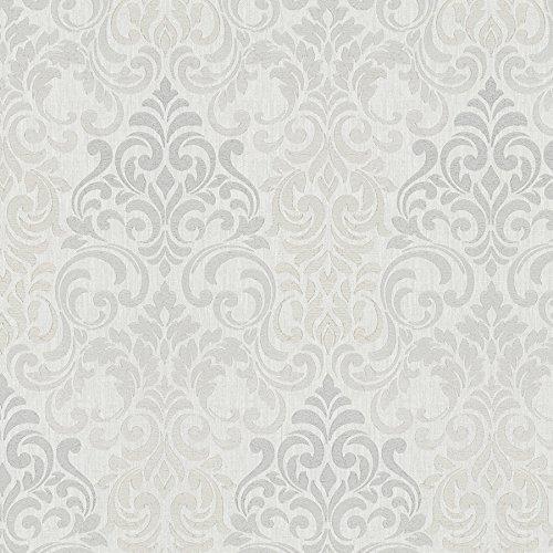 Tapete Greige - Ornamental - für Schlafzimmer oder Wohnzimmer - Made in Germany - 10,05m x 0,70m - 58211