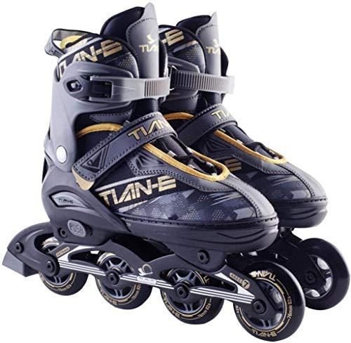 XIUWOUG Herren Damen Inliner Inlineskates | 82A Rollen | ABEC-7 Chrome Kugellager | Unisex Fitness Skates für Erwachsene,Gold,XL (42~45)
