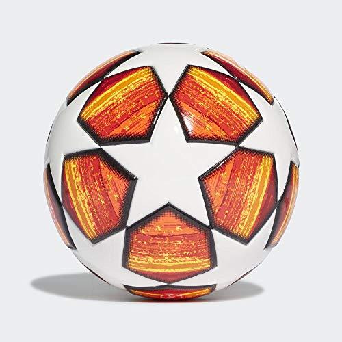 adidas Finale Mini Ball, Top: White/Active Scarlet Red Bottom: Bright Orange/Solar Gold/Schwarz, 1