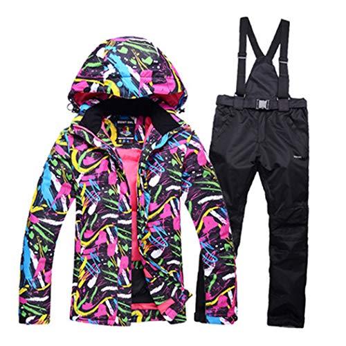Azastar Verdicken Warme Damen Skianzug Wasserdicht Winddicht Skifahren und Snowboarden Jacke Hosen Set Warmer Schneeanzug