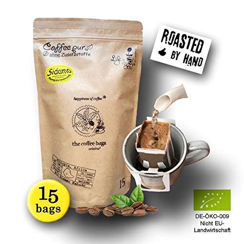 Life is You! Coffee Bags | (BIO) Kaffee Sidamo aus schattigen Waldgärten aus dem Gebiet Sidamo, Region Kebado in Äthiopien | 15 Coffee Bags (für Becher) | frisch und schonend handgerösteter Filterkaffee | bekannt aus