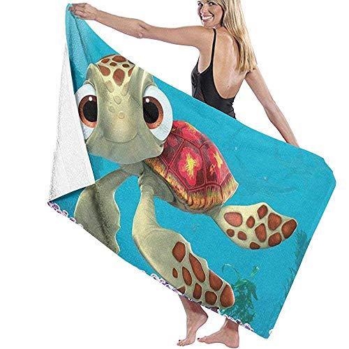 Yocmre Badetuch Wrap Findet Nemo Sea Turtles Prints Spa Dusche und Wrap Handtuch 130 * 80cm (52x32 Zoll) Bademantel Cover Up für Unisex