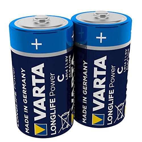 VARTA Longlife Power Batterie C Baby Alkaline Batterien LR14, 2er Pack