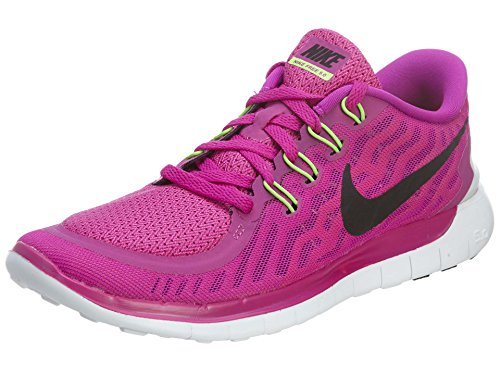 Nike Free 5.0 Damen Laufschuhe,Mehrfabig (Fuchsia Flash/Black-Pink Power-Hot lava),36.5 EU