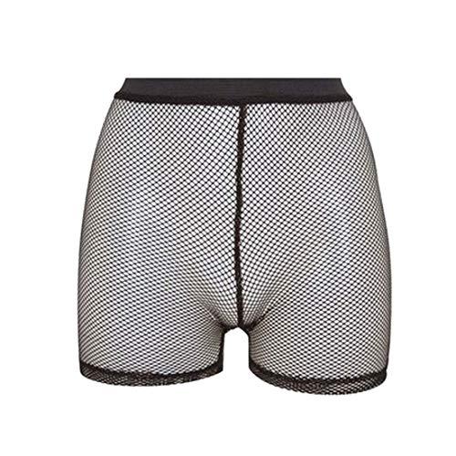 Hi Fashionz Damen Sportliches Netz-Netz-Radhosen Kurze Hosen All Over Mesh-Radhosen (Netzhose Hot Pants) Mittel/Gro�