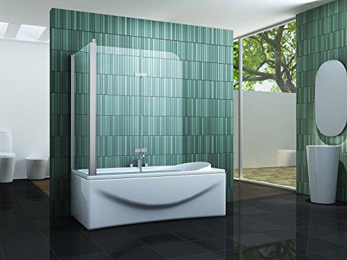 Eck-Duschtrennwand PERINTO 70 (Badewanne)
