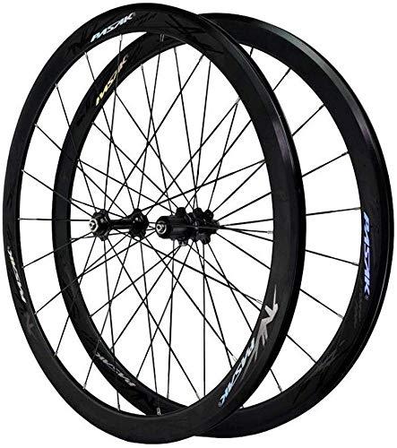 LIMQ Rennrad Räder 700C 40 MM Fahrradachse Leichtmetallfelgen Ultraleicht Doppelwandige V Bremsscheibe Schnellspanner Palin Scheibenlager 7 8 9 10 11/12 Geschwindigkeit,C