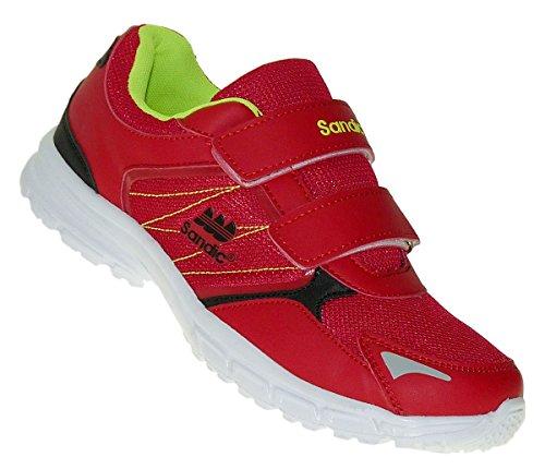 Bootsland Klett Herren Turnschuhe Sneaker Sportschuhe Freizeitschuhe 027, Schuhgröße:45, Farbe:Rot