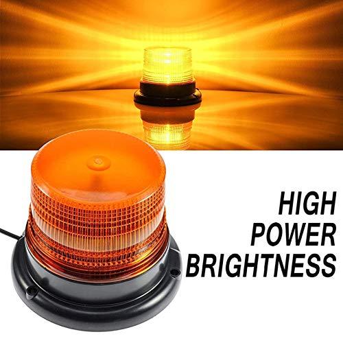 LED Warnleuchte Gelb Rundumleuchte Magnet Orange LED für Auto LKW 12V Warnlicht Blinkleuchte Strobe Beacon Light