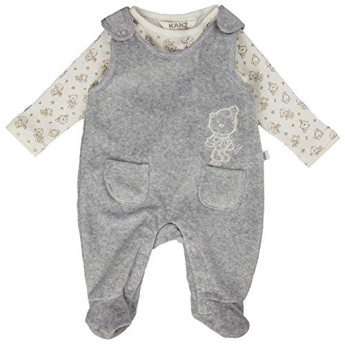 Kanz Unisex Baby Strampler + T-Shirt 1/1 Arm Bekleidungsset, Grau (Zara Gray Melange Gray 8600), (Herstellergröße: 50)