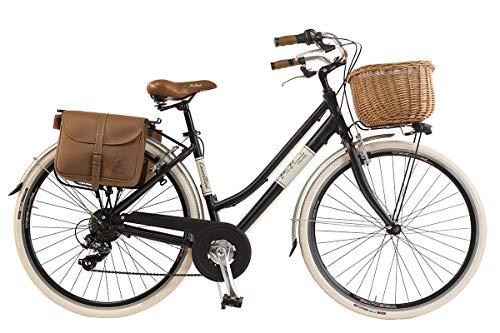 Via Veneto By Canellini Fahrrad Rad Citybike CTB Frau Vintage Retro Via Veneto Alluminium (Schwartz, 50)