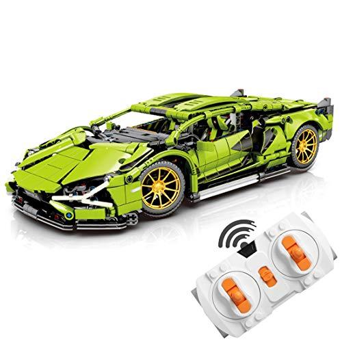 OATop 1254 Teile Technik Bausteine Auto für Lamborghini Centenario, 1: 14 Ferngesteuertes Sportwagen mit LED-Licht Bausteine Kompatibel mit Lego Technic