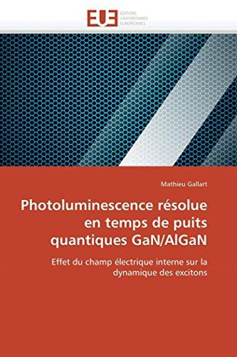 Photoluminescence résolue en temps de puits quantiques GaN/AlGaN: Effet du champ électrique interne sur la dynamique des excitons (Omn.Univ.Europ.)