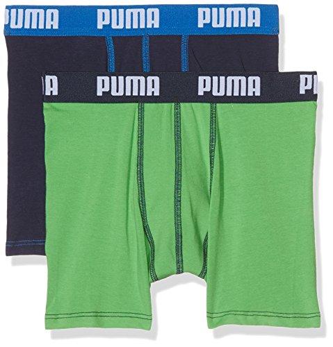 PUMA Jungen Basic Boxer 2P Boxershorts, Green/Blue, 140