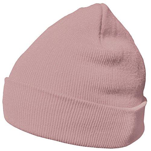 DonDon Wintermütze Mütze warm klassisches Design modern und weich altrosa