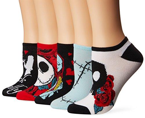 Disney Damen-Socken Nightmare Before Christmas, 5er-Pack - -