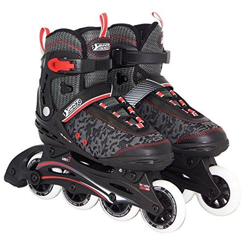Best Sporting Inline Skates, Größe verstellbar mit ABEC 7 Carbon Kugellager, Inliner für Teenager und Erwachsene, Größe: 43-44