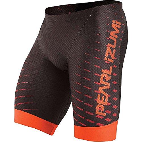 PEARL IZUMI Herren Pro In-R-Cool Tri-Shorts, Schwarz/Rot/Orange, Größe L