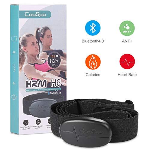 CooSpo Herzfrequenzmesser Brustgurt Bluetooth/ANT+ Brustgurt IP67 Wasserdicht Heart Rate Sensor Kompatibel mit Wahoo, Zwift, Polar Beat, Elite HRV, Adidas Run app, Endomondo