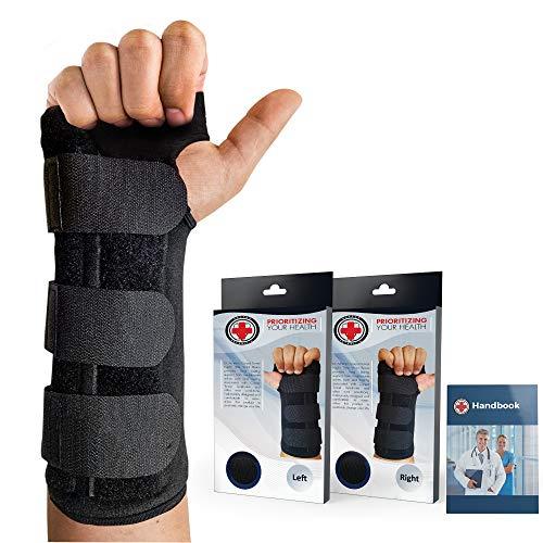Von Ärzten entwickelte verstellbare Karpaltunnelsyndrom-Handgelenkorthese und Handgelenkstütze (Links)