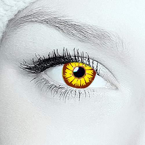 2x twilight Kontaktlinsen Farbige red funlinsen, crazy contact lenses, twilight 1 Paar + gratis Kontaktlinsenbehälter