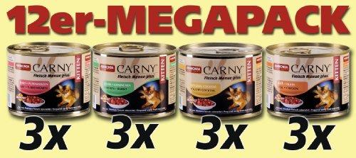 Animonda Carny Kitten Fleisch Menue, 12er Pack (12 x 200 g)