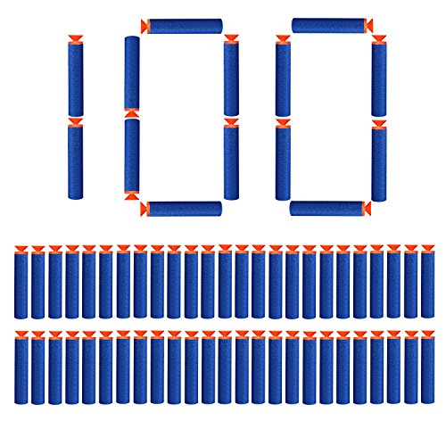 StillCool 100 Stück 7.2cm Saugnapfpfeile Darts Nachfüll Bullets Schaumstoff Pfeile Zubehör für Nerf N-Streik Elite Series (Saugnapf )