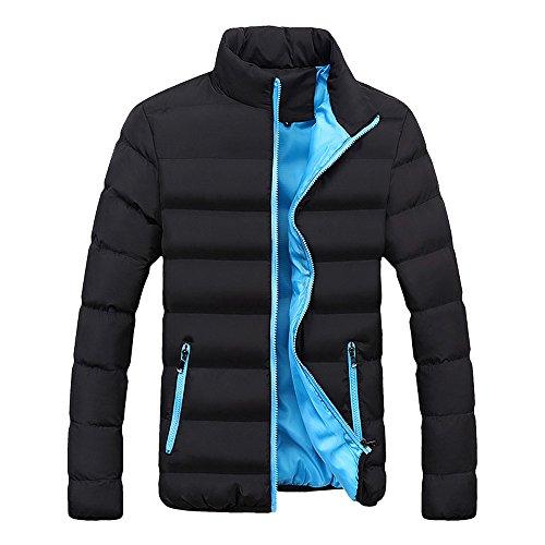 Xmiral Herren Jacke Mantel Warm Slim Fit Dicke Blase Lässige Parka Oberbekleidung (XS,Blau)