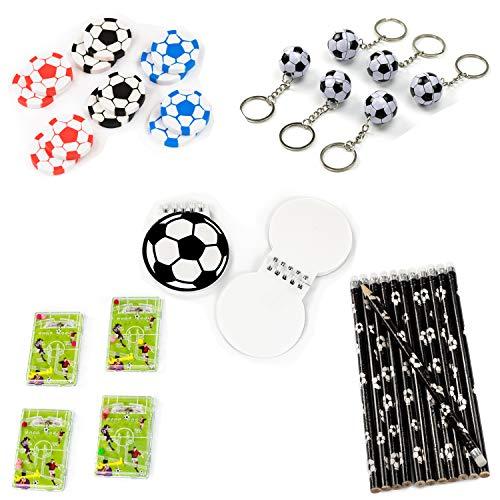 cama24com Fußball Party Mitgebsel Set B 60-teilig Kindergeburtstag Mottoparty Give-Aways mit Palandi® Sticker