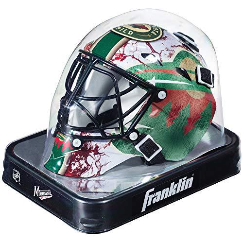 Franklin Sports Eishockey-Sammelartikel Torwart-Helm Mini, Design: Logo Einer NHL-Mannschaft, Unisex, 7784F33, Minnesota Wild, Einheitsgröße