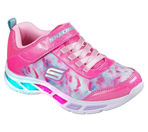 Skechers Girl's 10921L Trainers, Multicolour (Neon Pink/Multicolour), 12 UK Child (30 EU)