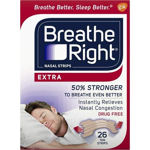 Breathe Right Nasal Strips, Extra, 26-Count Box (2 Pack) by Breathe Right