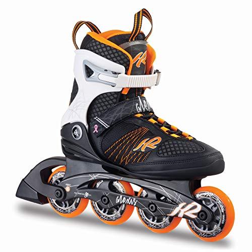 K2 Inline Skates ALEXIS 80 Für Damen Mit K2 Softboot, Black - White - Orange, 30A0104