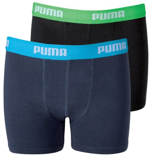 Puma Jungen Boxershorts Basic 2er Pack, india ink/turquo (376), 134-140, 525015001