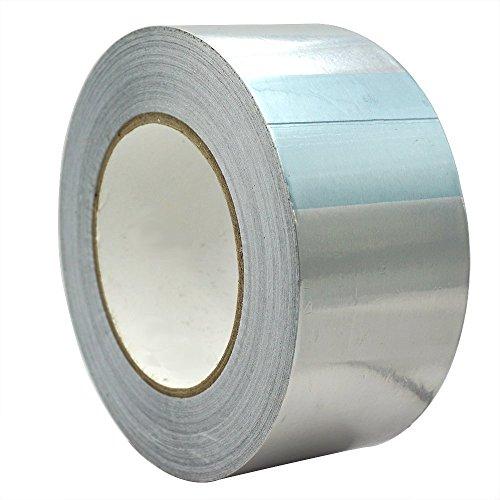 25m x 50mm Aluminiumband Aluminium Klebeband Aluminiumklebebänder selbstklebend, 1 Rolle in silber